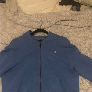 authentic Ralph lauren polo blue zip up hoodie